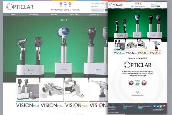 Opticlar home page