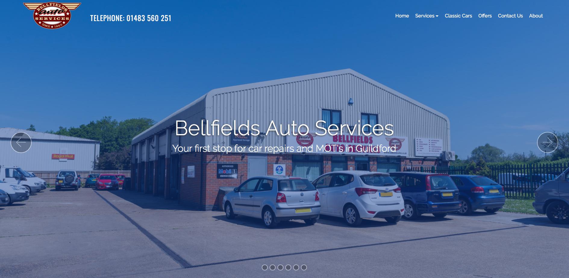 Bellfields Auto Services homepage