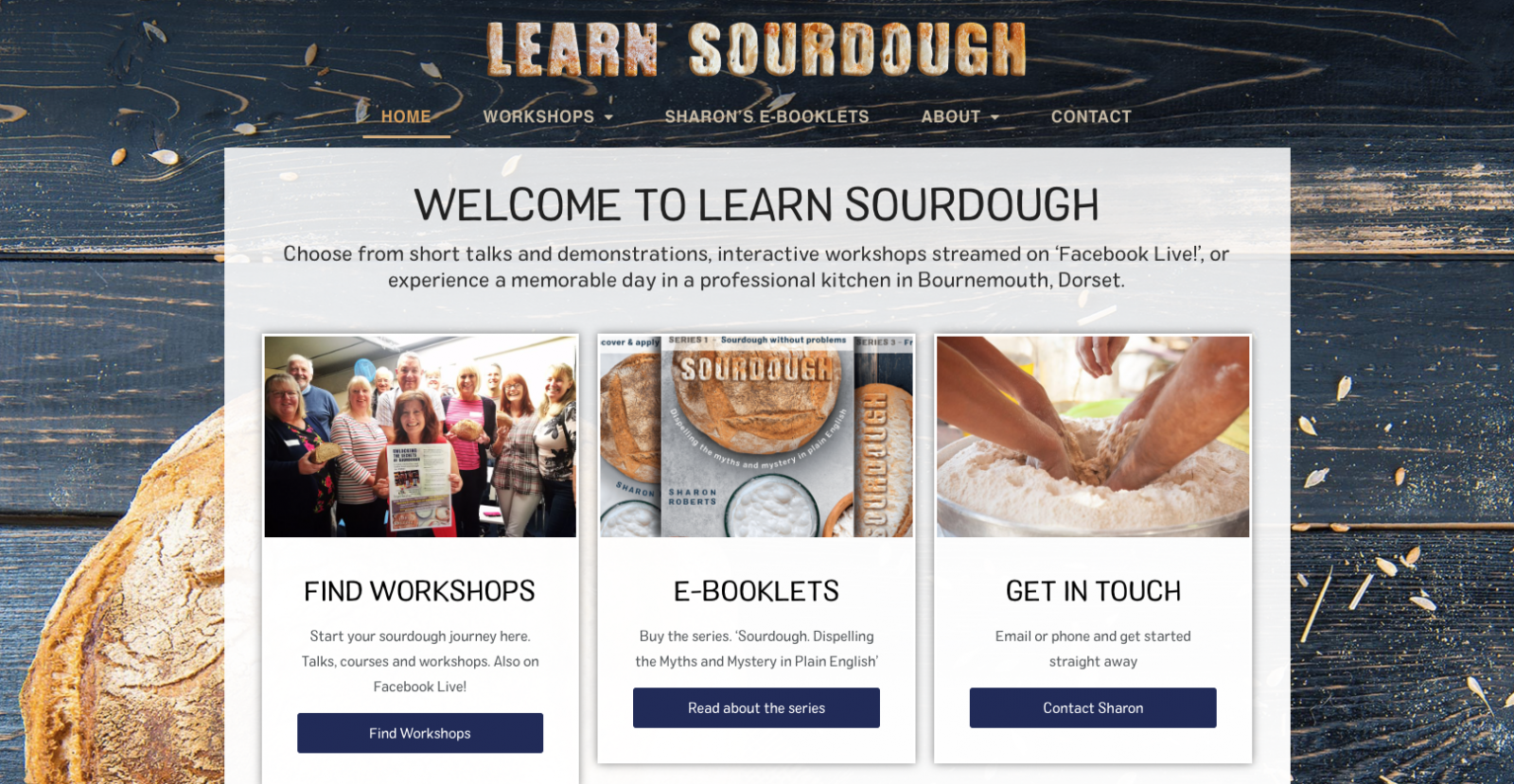 Learn Sourdough Homepage